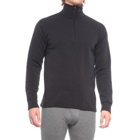Kenyon Polartec® Power Wool® Fleece Base Layer Top - Zip Neck, Long Sleeve (For Men) in Black