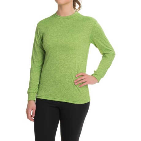Kenyon Space-Dye Base Layer Top - Long Sleeve (For Women) in Green/Black