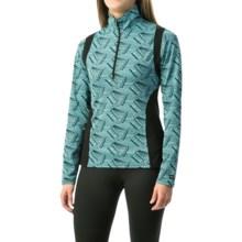 Kerrits Twist of Bit Riding Shirt - Zip Neck, Long Sleeve (For Women) in Glacier - Closeouts