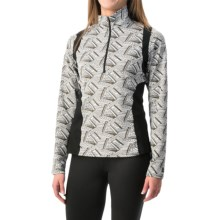 Kerrits Twist of Bit Riding Shirt - Zip Neck, Long Sleeve (For Women) in White - Closeouts