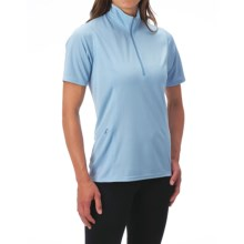 Kerrits Venti Shirt - Zip Neck, Short Sleeve (For Women) in Ice Blue - Closeouts