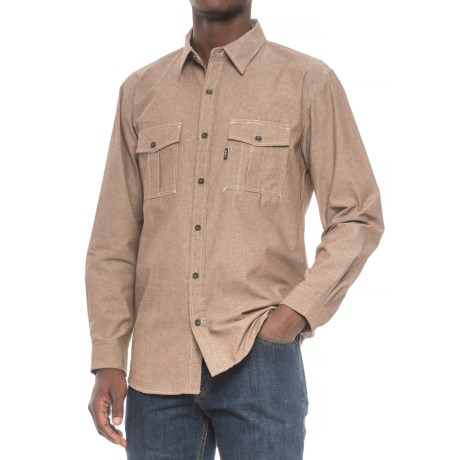 Key Apparel High-Performance Work Shirt - Long Sleeve (For Men) in Brown