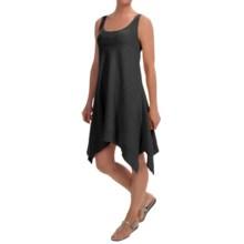 Keyhole Cotton Slub Tank Dress- Sleeveless (For Women) in Black - 2nds