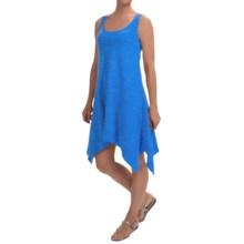 Keyhole Cotton Slub Tank Dress- Sleeveless (For Women) in Blue - 2nds