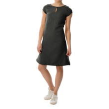 Keyhole Sheath Dress - Short Sleeve (For Women) in Black - 2nds