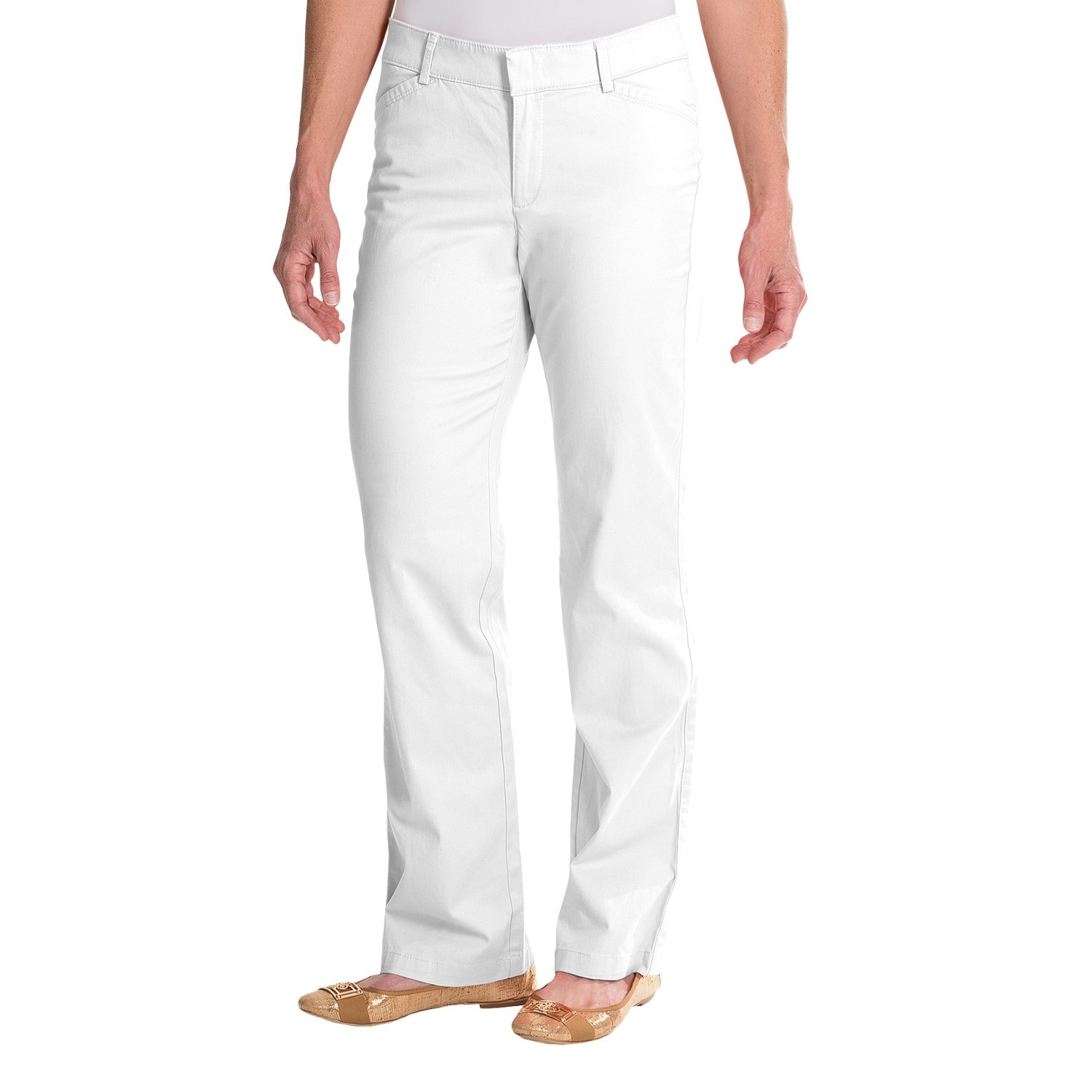 Simple  Dourada Pants  Cotton Twill Straight Leg For Women  Save 46