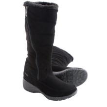 Khombu Abby Snow Boots - Waterproof, Insulated (For Women) in Black - Closeouts