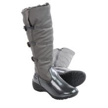 Khombu Abigail Snow Boots - Waterproof, Insulated (For Women) in Pewter/Patent - Closeouts