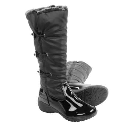 Khombu Abigail Winter Boots - Waterproof, Insulated (For Women) in Black/Patent - Closeouts