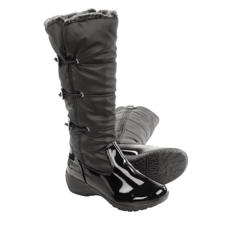 Khombu Abigail Winter Boots - Waterproof, Insulated (For Women) in Black/Patent