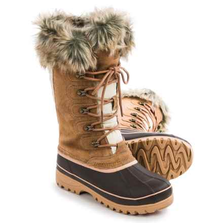 Khombu Allie Snow Boots - Waterproof, Insulated (For Women) in Tan - Closeouts