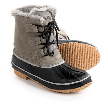 Khombu Alyssa Pac Boots - Waterproof, Insulated, Suede (For Women) in Fossil/Black - Closeouts