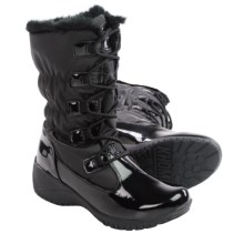 Khombu Anne Snow Boots - Waterproof, Insulated (For Women) in Black/Patent - Closeouts