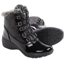 Khombu Annie Snow Boots - Waterproof, Insulated (For Women) in Black/Patent - Closeouts
