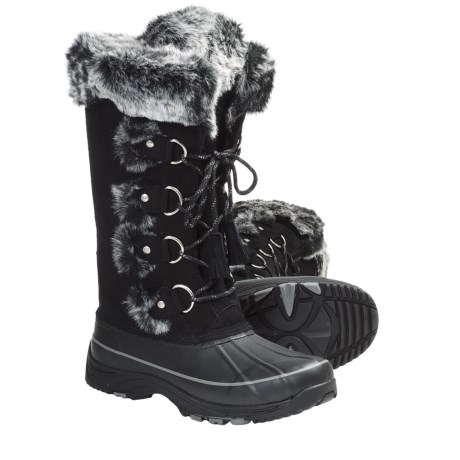 Khombu Arctic 2 Winter Pac Boots - Weatherproof, Lace-Ups (For Women) in Black