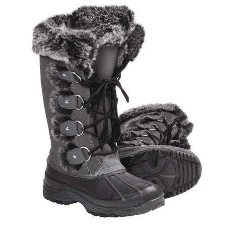 Khombu Arctic 2 Winter Pac Boots - Weatherproof, Lace-Ups (For Women) in Grey
