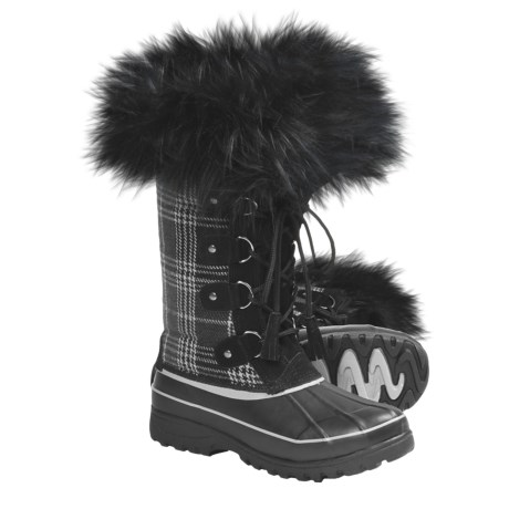 Khombu Arctic Novelty Winter Boots (For Women) in Black