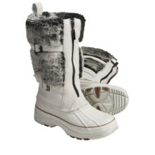 Khombu Arctic Zip Winter Boots - Waterproof, Plush Faux-Fur Lining (For Women) in Ice - Closeouts