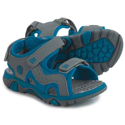Khombu Austin Sport Sandals (For Toddlers and Little Boys) in Grey/Blue - Closeouts