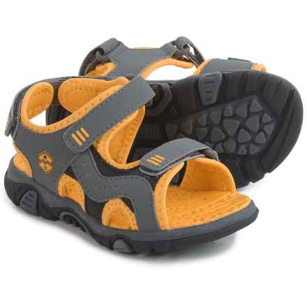 Khombu Austin Sport Sandals (For Toddlers and Little Boys) in Grey/Yellow - Closeouts