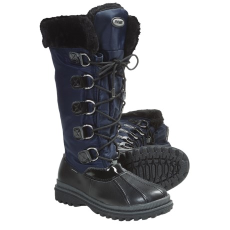 Khombu Birch High 2 Snow Boots - Weatherproof (For Women) in Navy