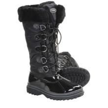 Khombu Birch High 2 Winter Boots - Weatherproof (For Women) in Black Patent - Closeouts