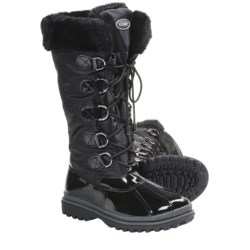 Khombu Birch High 2 Winter Boots - Weatherproof (For Women) in Black Patent