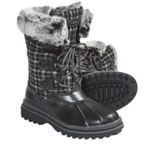 Khombu Birch Low 2 Winter Pac Boots - Waterproof (For Women) in Black/Grey - Closeouts