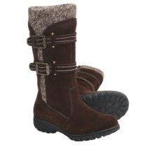 Khombu Boulder Sweater Boots - Suede, Insulated (For Women) in Brown - Closeouts