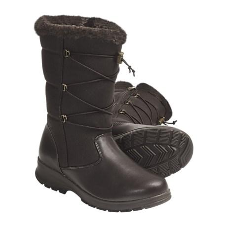 Khombu Bungee 2 Winter Boots (For Women) in Dark Brown
