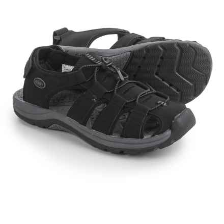 Khombu Chandler Water Sandals - Leather (For Men) in Black - Closeouts
