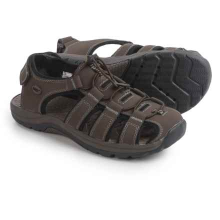Khombu Chandler Water Sandals - Leather (For Men) in Brown - Closeouts
