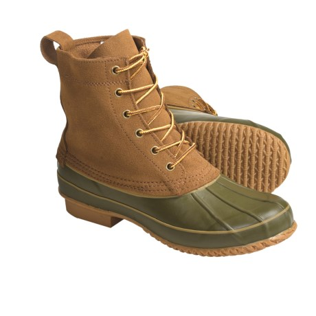 Khombu Classic Duck Winter Boots - Leather (For Men) in Tan Suede