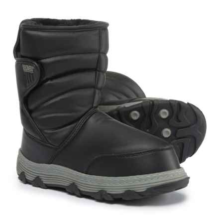 Khombu Classic Moon Traveler Snow Boots - Waterproof, Insulated (For Little and Big Boys) in Black - Closeouts