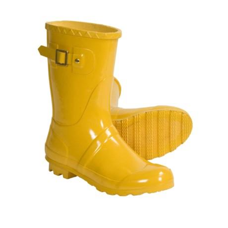Khombu Classy Rain Boots (For Women) in Pink