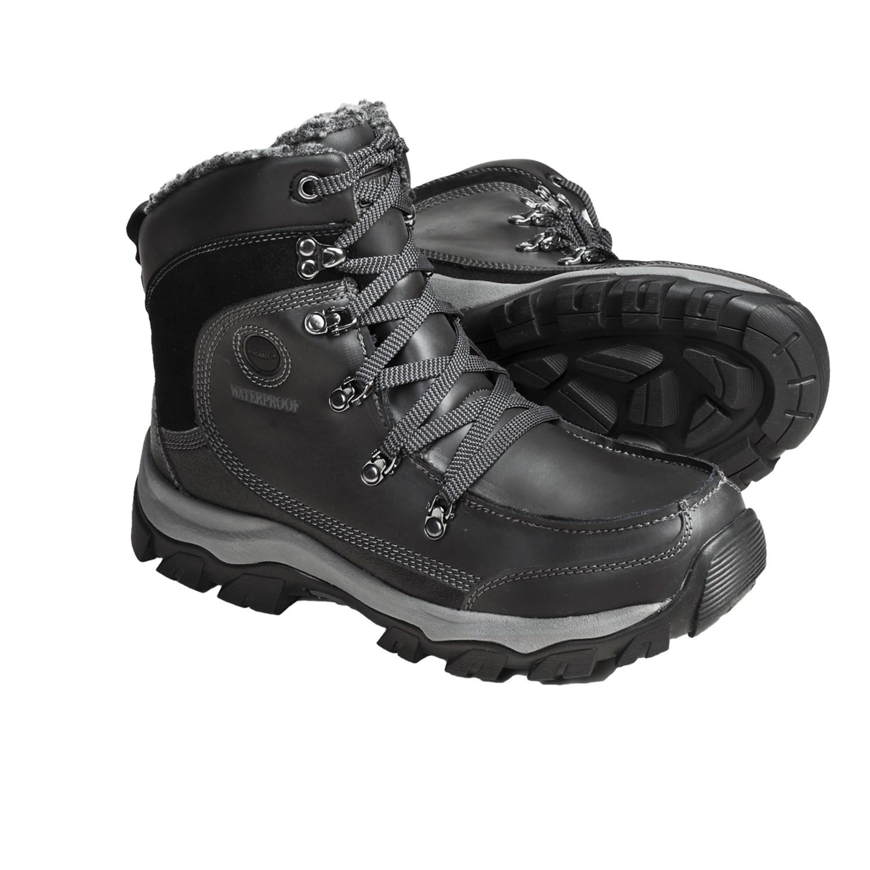Mens Waterproof Zipper Comfort Cold Winter Snow Boots | Homewood