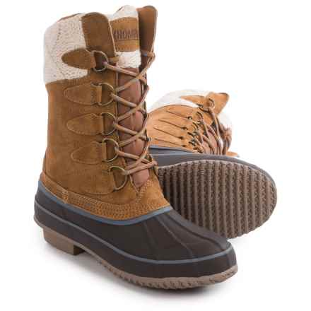 Khombu Cozy Pac Boots - Waterproof, Suede (For Women) in Tan - Closeouts