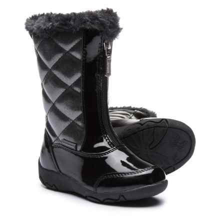 Khombu Dana Winter Boots - Faux Patent Leather (For Toddler Girls) in Black - Closeouts