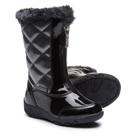 Khombu Dana Winter Boots - Faux Patent Leather (For Toddler Girls) in Black