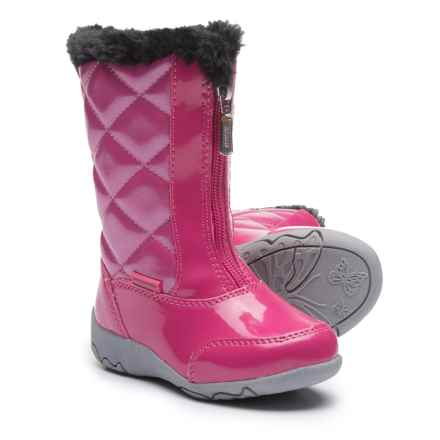 Khombu Dana Winter Boots - Faux Patent Leather (For Toddler Girls) in Magenta - Closeouts