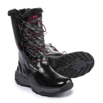 Khombu Daphanie Snow Boots - Insulated (For Little and Big Girls) in Black - Closeouts