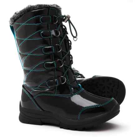 Khombu Daviana Snow Boots - Waterproof, Insulated (For Girls) in Black - Closeouts