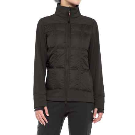 Khombu Down and Soft Shell Hybrid Jacket - Waterproof (For Women) in Black - Closeouts