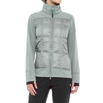 Khombu Down and Soft Shell Hybrid Jacket - Waterproof (For Women) in Gray - Closeouts