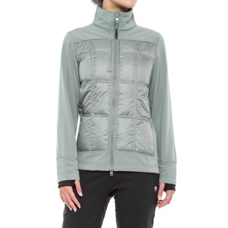 Khombu Down and Soft Shell Hybrid Jacket - Waterproof (For Women) in Gray