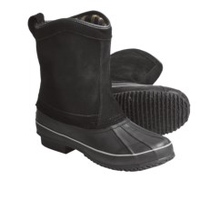 Khombu Duck Suede Winter Boots - Pull-On (For Men) in Black - Closeouts
