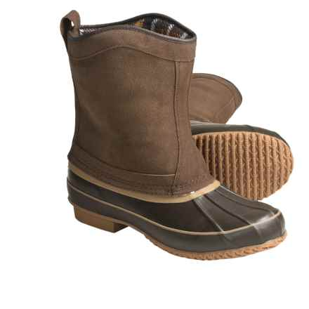 Khombu Duck Suede Winter Boots - Pull-On (For Men) in Dark Brown - Closeouts