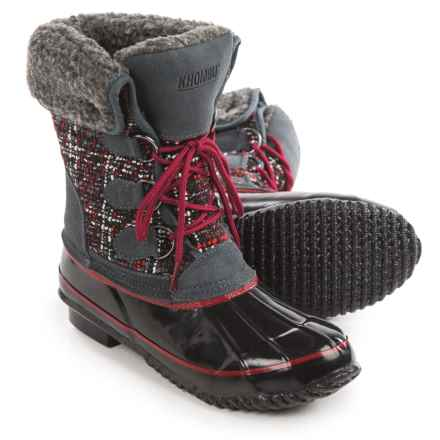 Khombu Elysse Snow Boots - Waterproof, Insulated (For Women) in Castlerock/Black/Grey - Closeouts