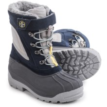 Khombu Eric Snow Boots - Waterproof, Insulated (For Little and Big Boys) in Navy Grey - Closeouts