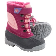 Khombu Erica Snow Boots - Waterproof, Insulated (For Little and Big Girls) in Magenta - Closeouts